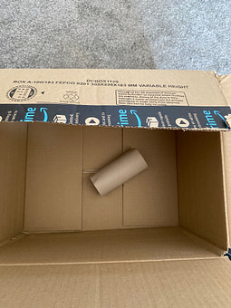 target scent in tube which is placed into a box