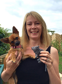 sarah whitehead with scentwork mouse