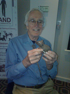 Ray Coppinger with scentwork mouse