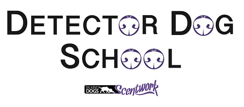 talking dogs scentwork detector dog school logo