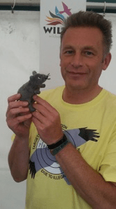 Chris Packham with scentwork mouse