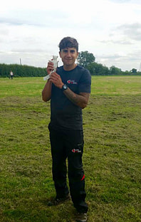 Craig Ogilvie with scentwork mouse