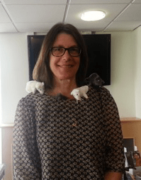 Susan Friedman with scentwork mice