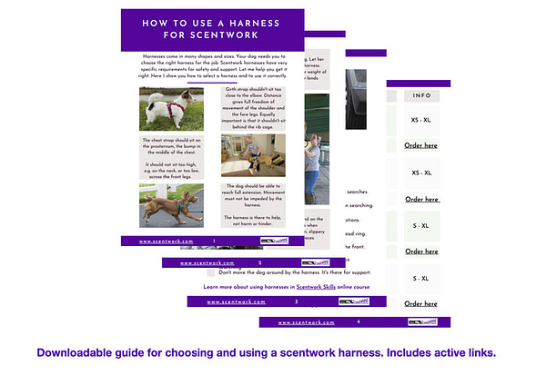downloadable scentwork harness guide